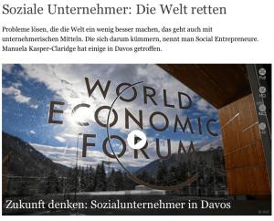 Deutsche Welle: Soziale Unternehmer retten die Welt